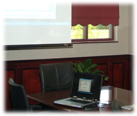 computer in conference room